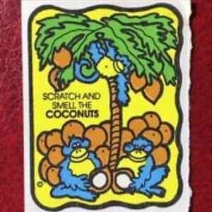 Vintage Mello Smello Coconuts Sticker Scented
